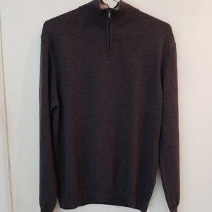 Marco Fiori Grey Merino Wool Sweater Large